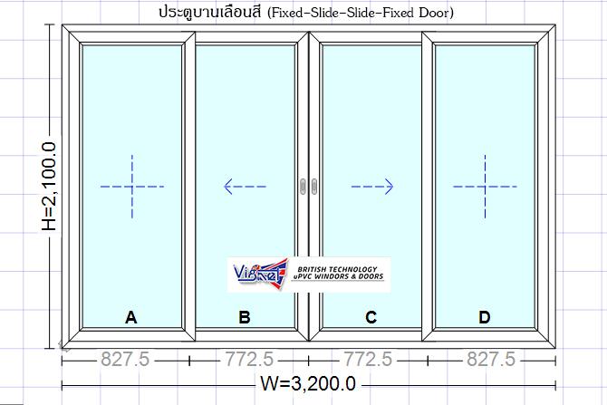 4-Panel Sliding Door