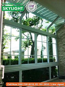 ห้องกระจก Vignet uPVC Skylight ภาพด้านใน